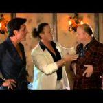 Enzo Salvi, Christian De Sica e Massimo Boldi (dal film: Vacanze di Natale 2000)